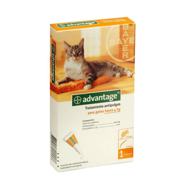 ADVANTAGE TRATAMIENTO ANTIPULGAS PARA GATOS HASTA 4kg