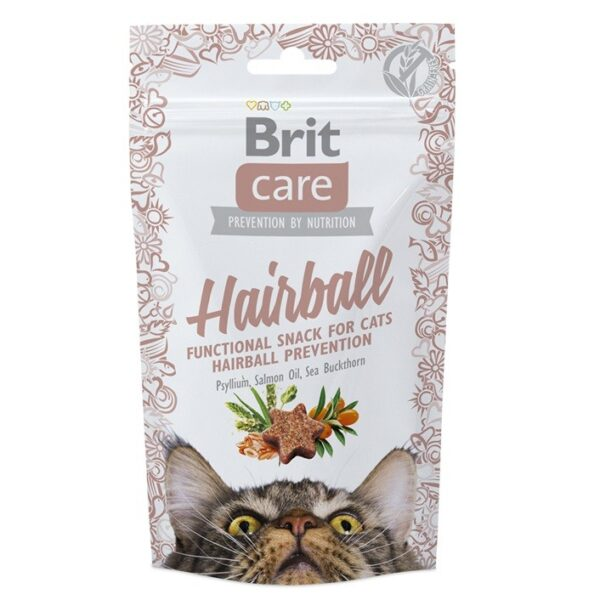 BRIT CARE HAIRBALL FUNCTIONAL SNACK CAT 50G