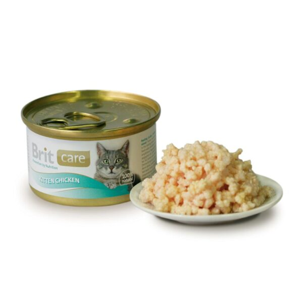 BRIT CARE KITTEN CHICKEN LATA 80gr